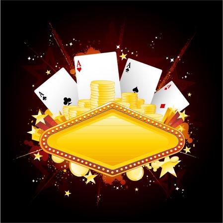 fichas casino: Signo de ne�n de Casino Vectores