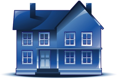 residential homes: Real estate house logo Illustration