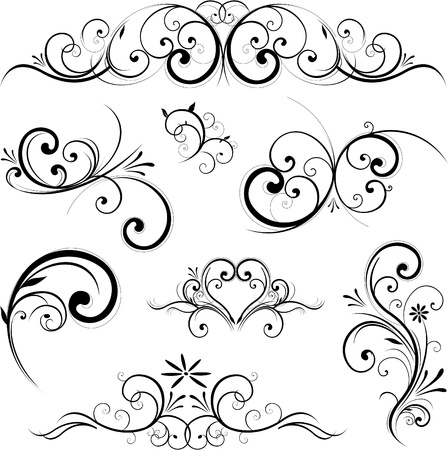 wed beauty: vector design elements