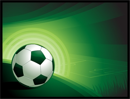 Vector soccer background