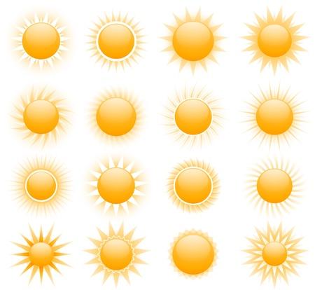 太陽の図  イラスト・ベクター素材