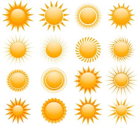 De pictogrammen van de zon Stockfoto - 8634161