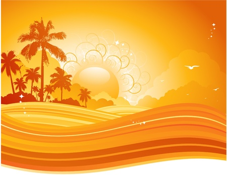 estate: Sfondo tropicale