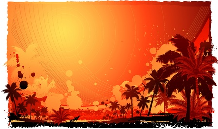 aloha: tropical summer background