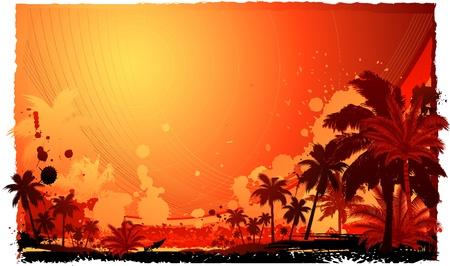 aloha: tropischer Sommer background Illustration
