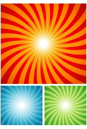 rayos de sol: Diseño de molinete de verano