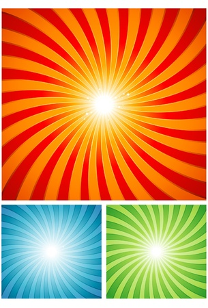 Summer twirl design Stock Vector - 8634152