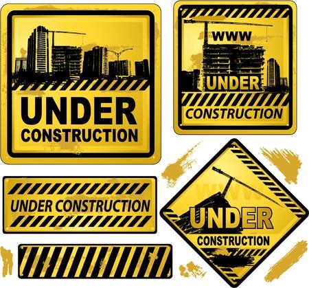 建設: 建設の看板の下で