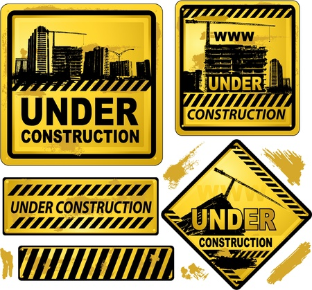 danger: under construction sign
