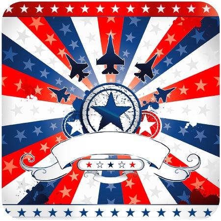 war decoration: patriotic american emblem