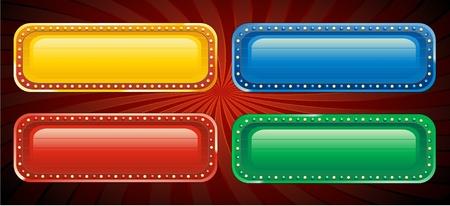 Casino banner sign Stock Vector - 8634150