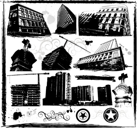 Old urban building Stock Vector - 8634180