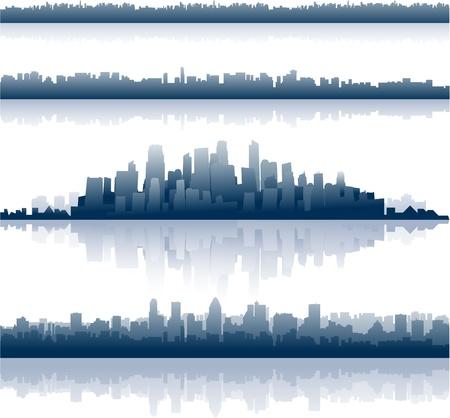 cityscapes reflection Illustration