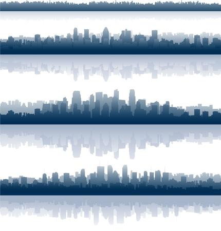 city skylines illustration Vector