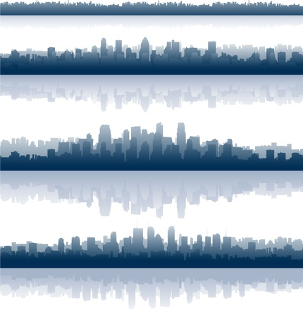 city panorama: city skylines illustration