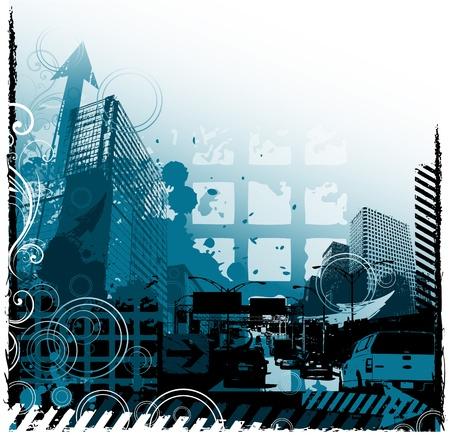 Grunge urban design Illustration