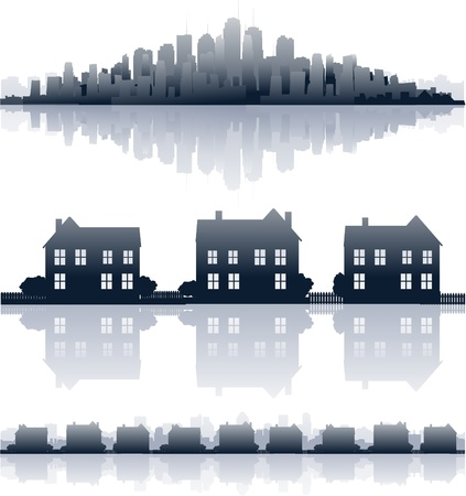 real estate background: real estate illustration