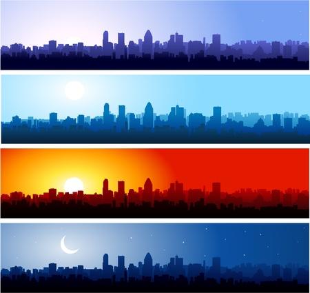 メトロポリス: 日の手順  イラスト・ベクター素材