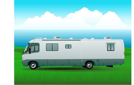 motorhome: illustrazione di rv camper Vettoriali