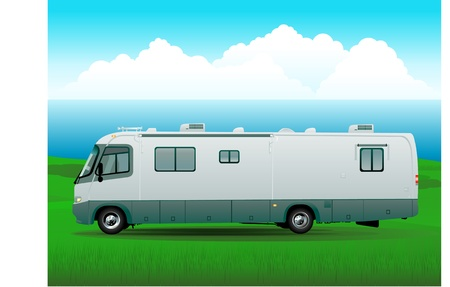 motorhome rv illustration