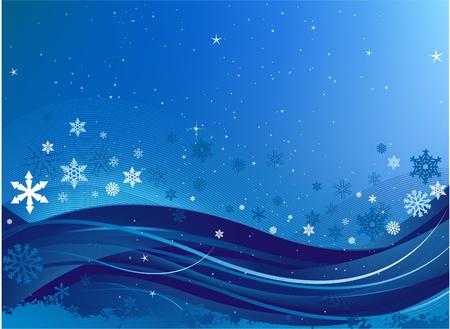 hintergr�nde: Winter-Hintergrund Illustration