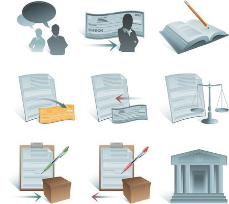 contabilidad financiera cuentas: colecci�n de iconos de contabilidad