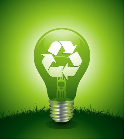 recycle idea light bulb