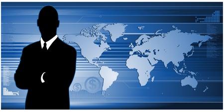 バナーのグローバル ビジネス コンセプト