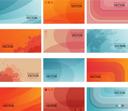 business: various business card Illustration