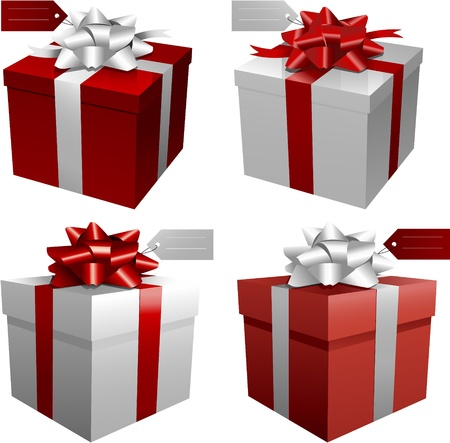 red christmas gift boxes Vector