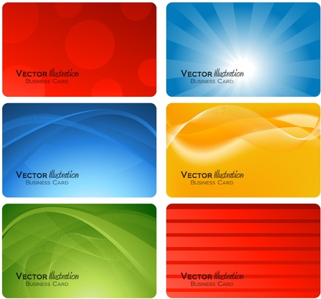 business graphics: various business card design