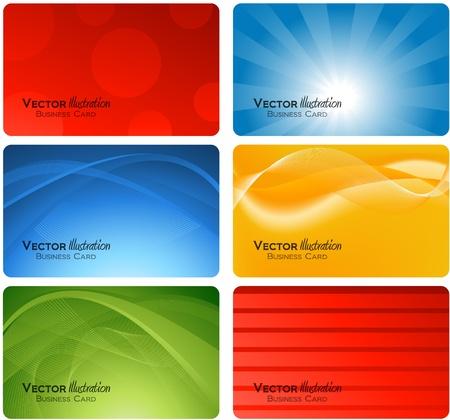 personalausweis: verschiedene Visitenkarten-design