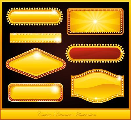 gold casino sign Stock Vector - 8698040