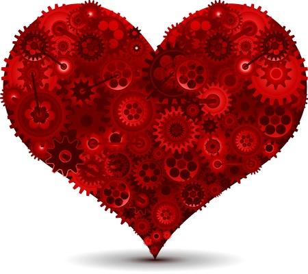 Mechanic heart love concept