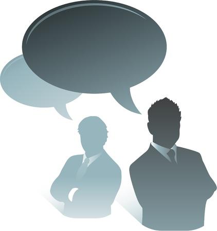 coworkers: business communication talking bubbles