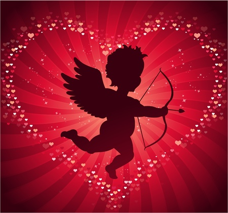 cupid background Vector