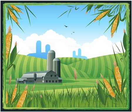 농장 수확 배경