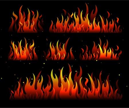 flames fire design Stock Vector - 8692972
