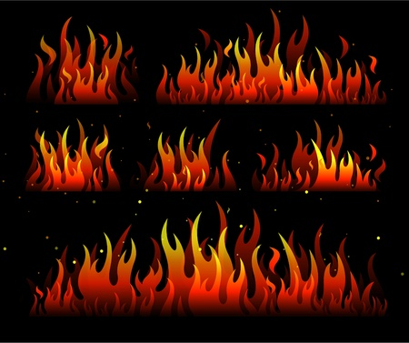 bbq: flames fire design Illustration