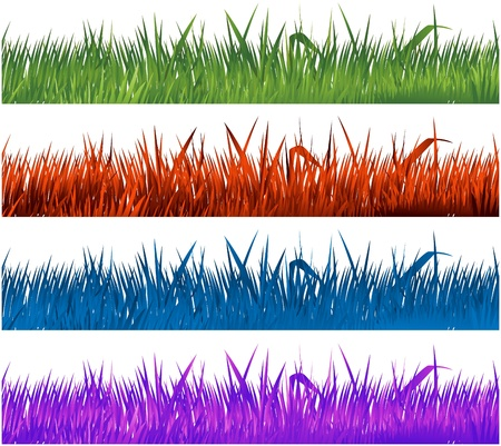 grass: multicolor grass collection Illustration