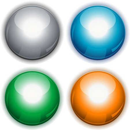 glossy round buttons Stock Vector - 8693029