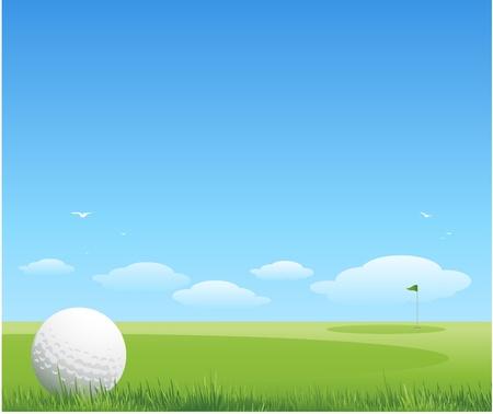 golf drapeau: vecteur golf arri�re-plan Illustration
