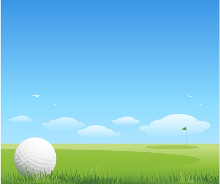 putting green: vector golf background