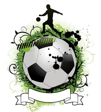 Grunge voetbal achtergrondontwerp