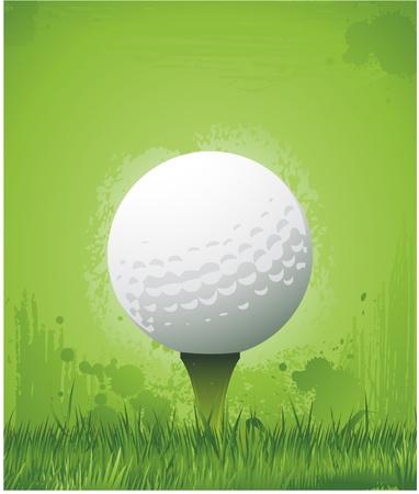 grunge golf background Vector