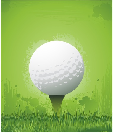 grunge background: grunge golf background