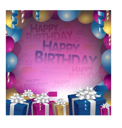 new year celebration: happy birthday background Illustration