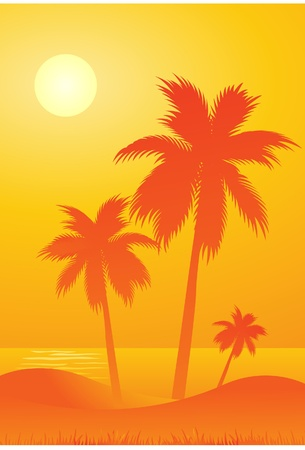 saturated: summer beach background