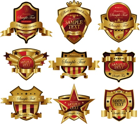 corona navidad: marco de oro rojo