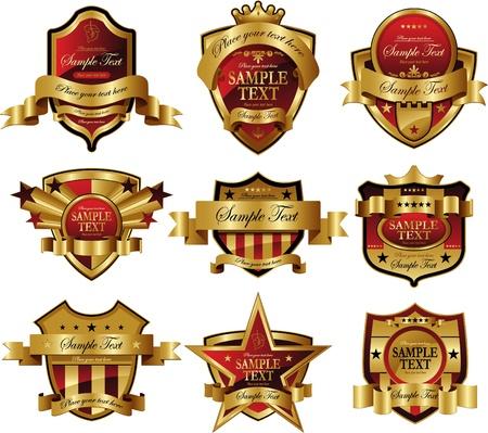 red golden frame Vectores